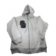 Sole Survivor Grey Mens Hoodie (Black/White Patch)
